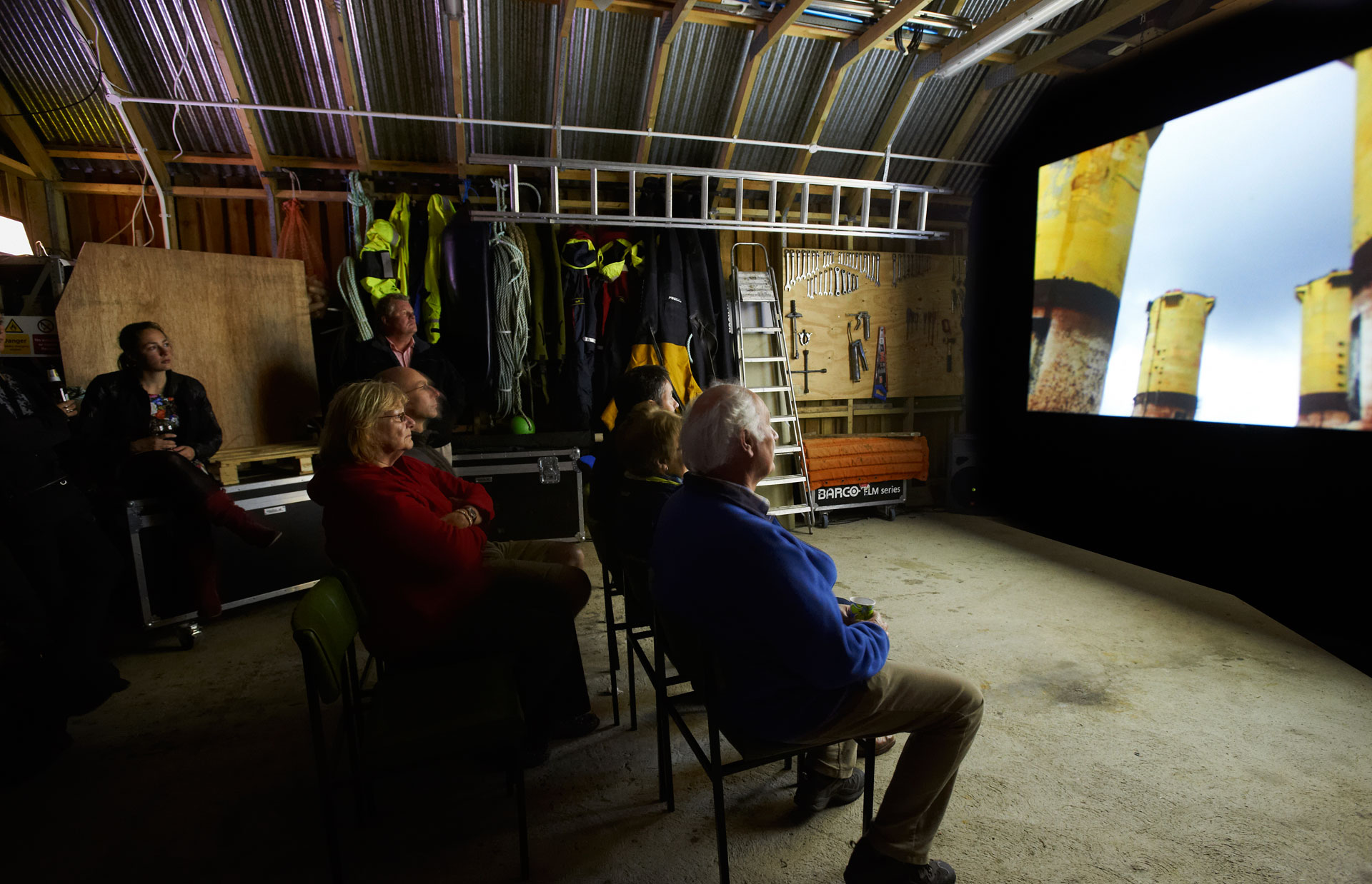 Dead Reckoning screening in boat shed